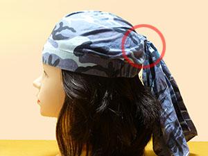 キャップ 作り方 バンダナ 手ぬぐいで夏用の医療用帽子を作りました。